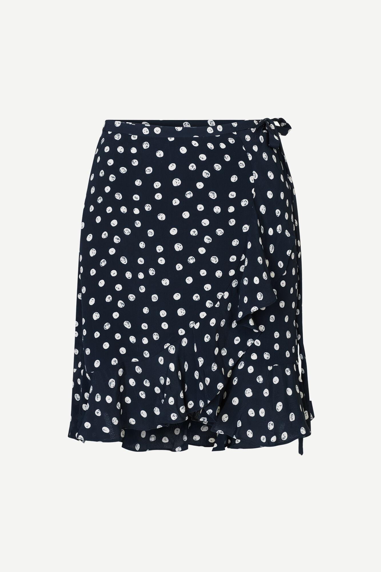 Limon s wrap skirt aop 10867, BLUE DOODLE DOT