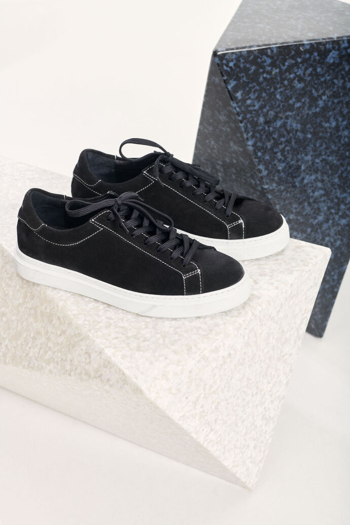 Papil sneakers 6724, BLACK WHITE STITCH