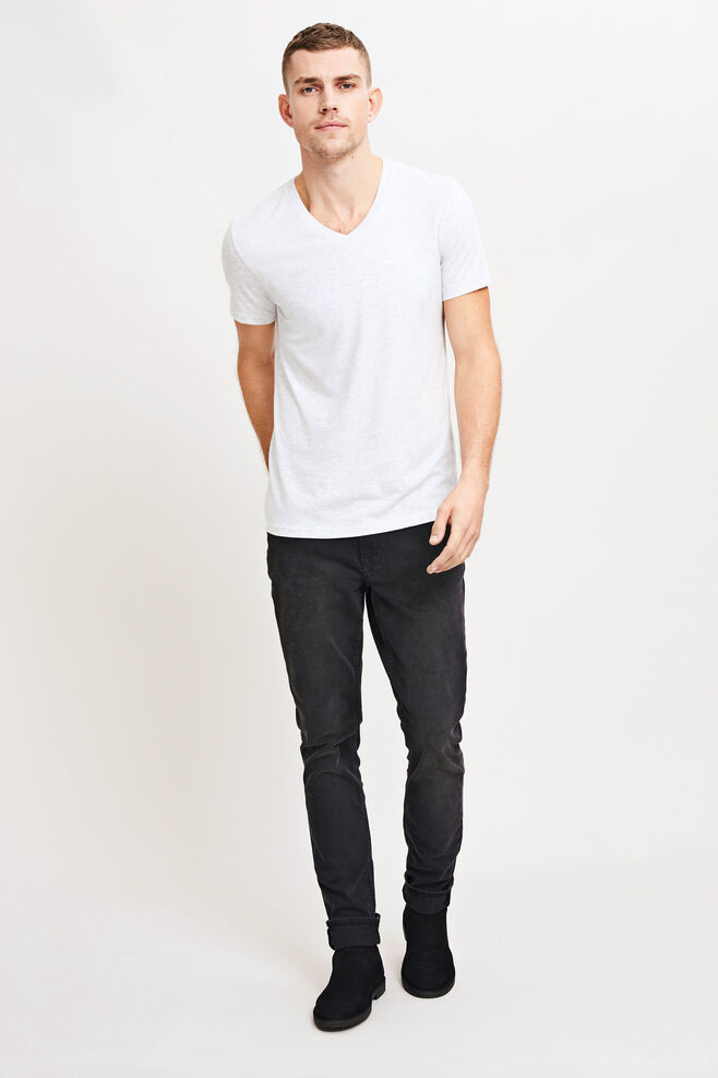 Marian male v-neck basic 273, WHITE MEL.