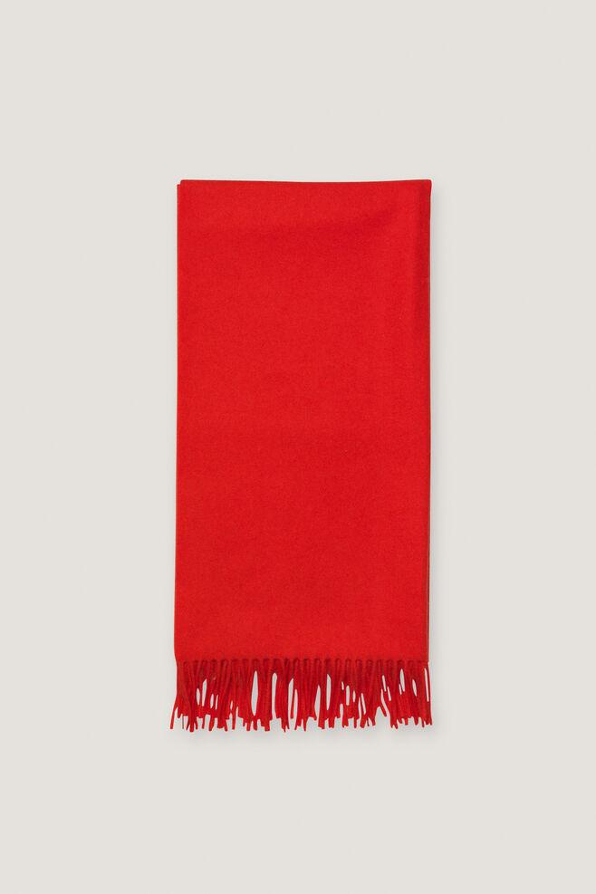 Accola maxi scarf 2862, HIGH RISK RED
