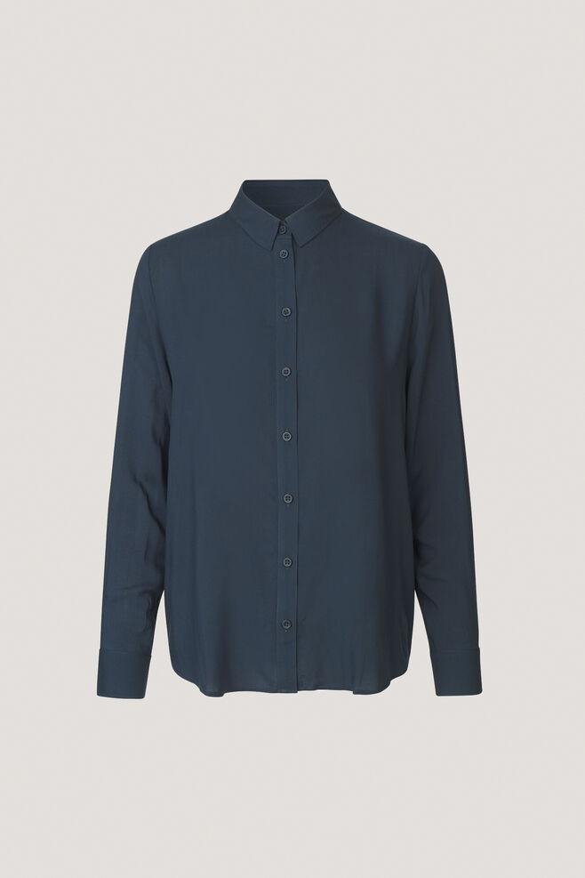 Maj ls shirt 3856, DARK SAPPHIRE