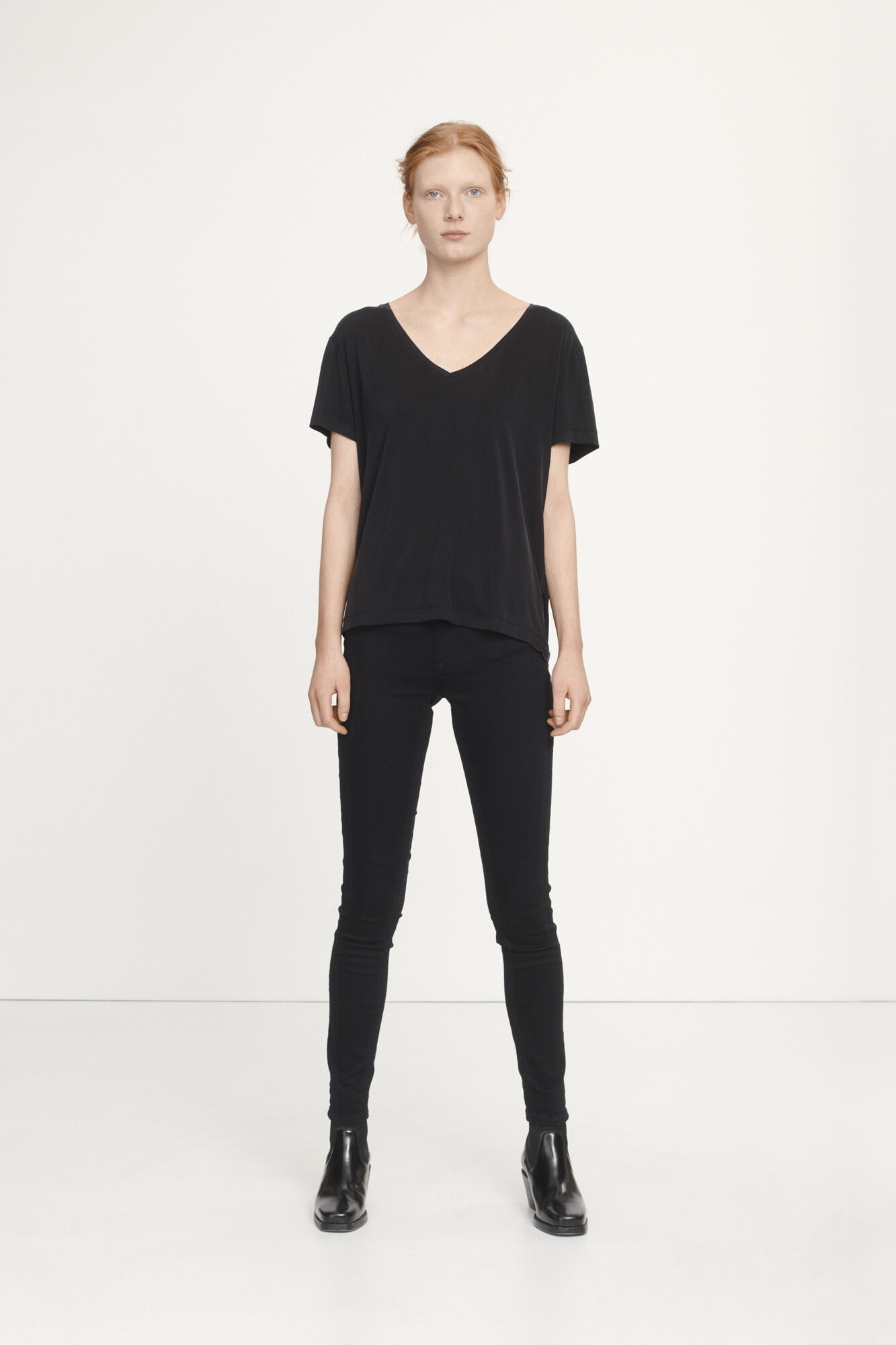 Siff v-neck 6202, BLACK