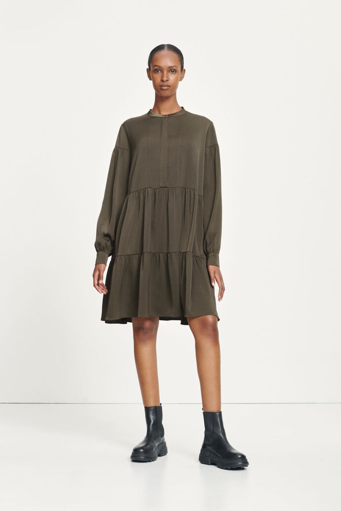 Margo shirt dress 12959, BLACK OLIVE