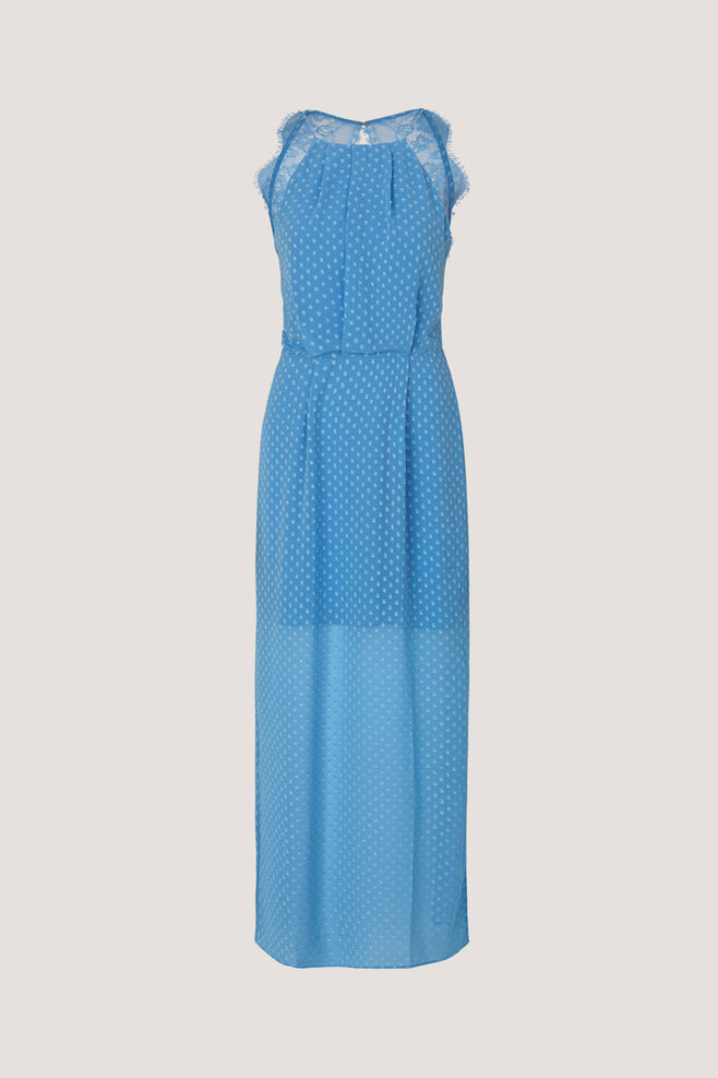 Willow dress long 10327, SILVER LAKE BLUE