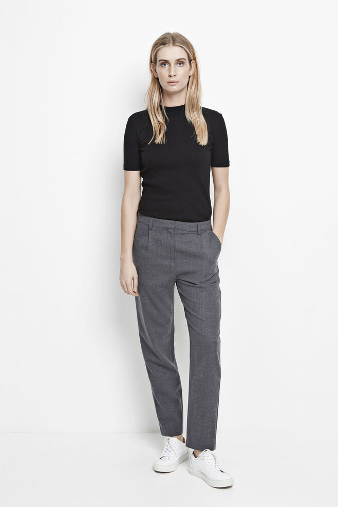 Stamford pants 6568, DARK GREY MEL.