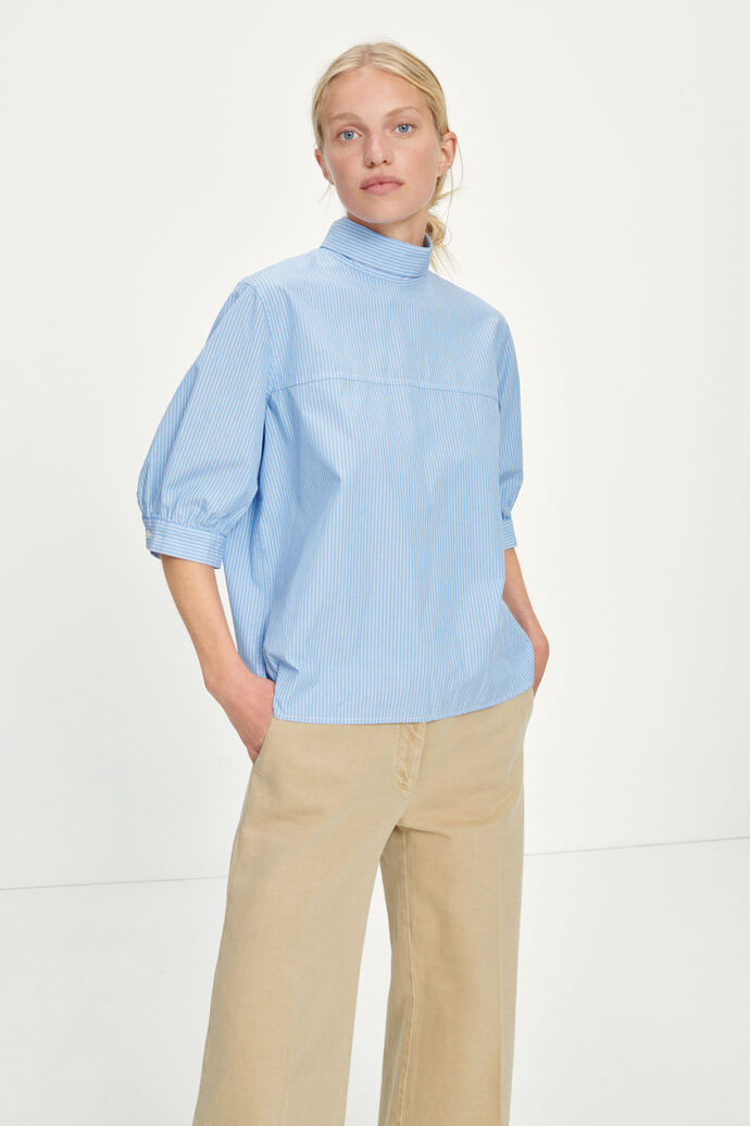 Mallory blouse 11466, DUSTY BLUE ST.