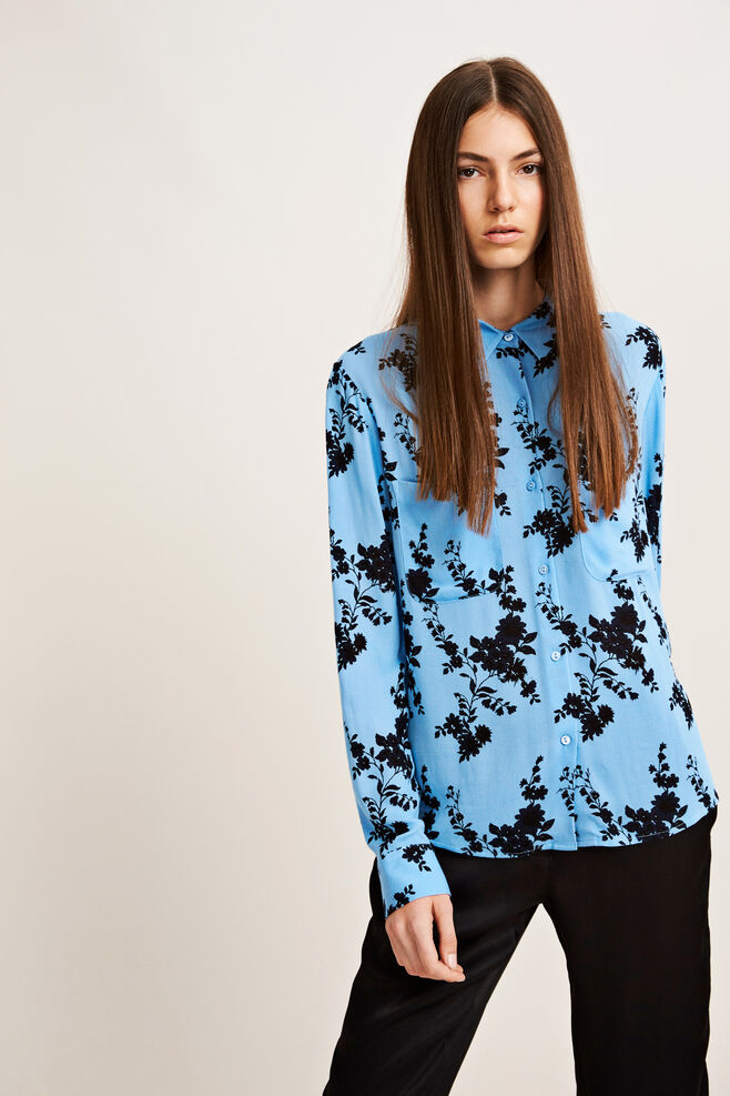 Milly shirt aop 7201, BLUE BLOOM