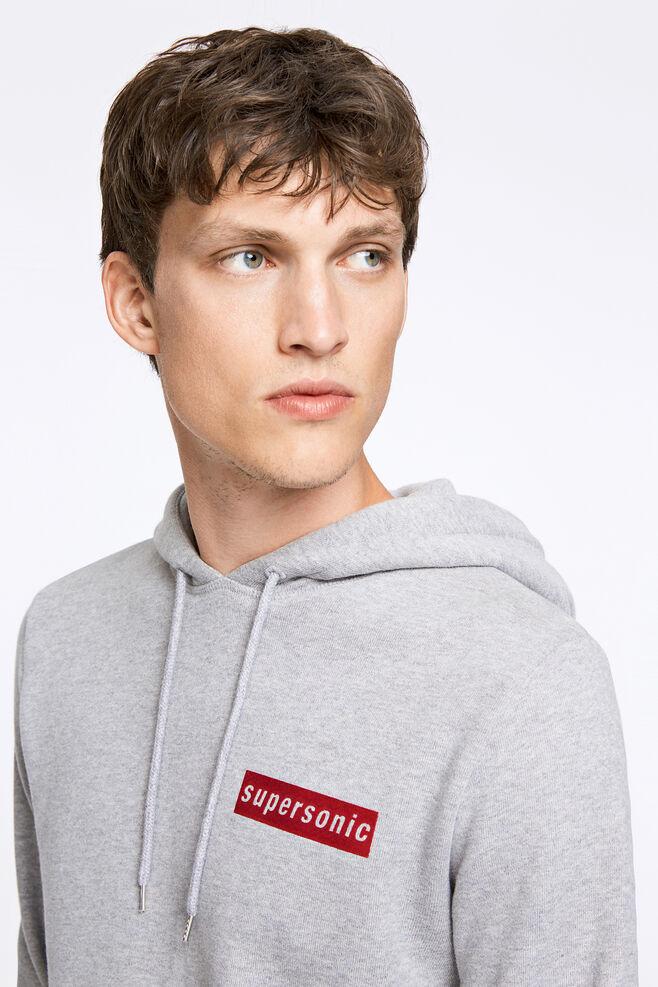 Supersonic hoodie 9461, GREY MEL.