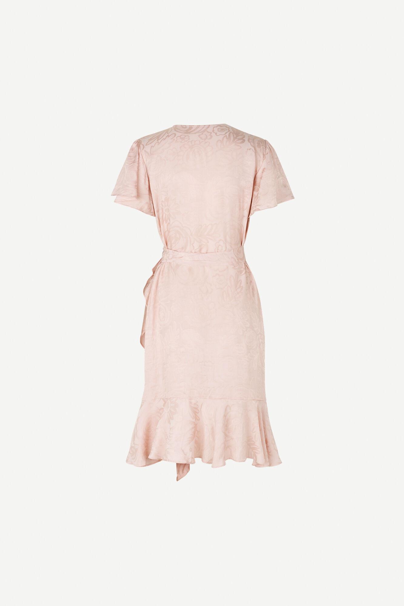 Adelia ss wrap dress 12696, PINK GECKO