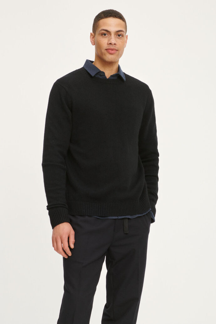 Sylli crew neck 132, BLACK