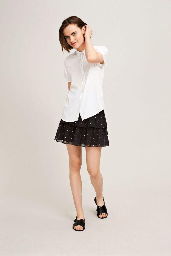 Maj ss shirt 9942, WHITE