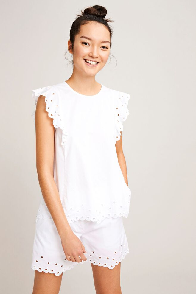 Mentha top 9936, WHITE