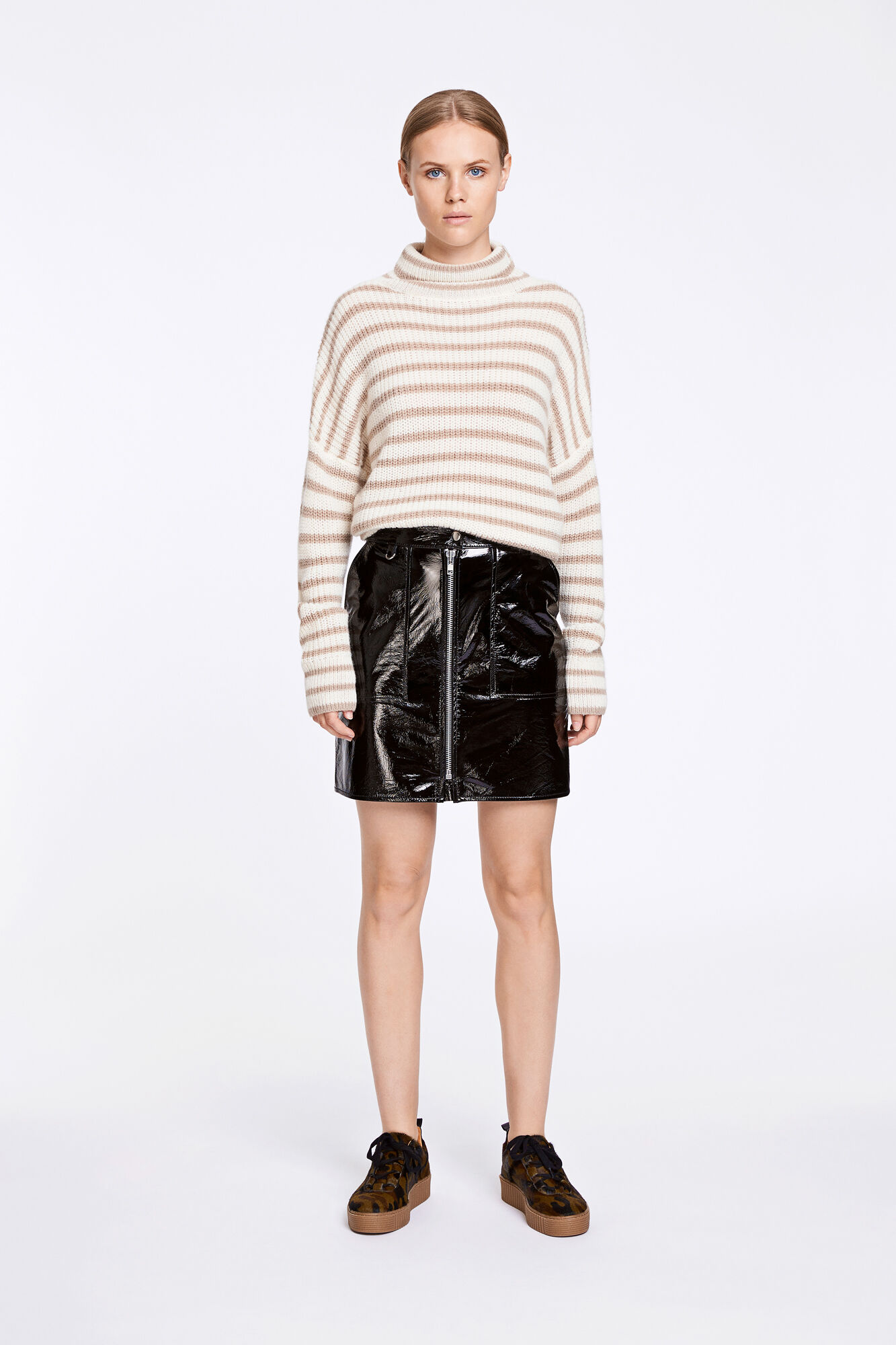 Guilera skirt 9489, BLACK