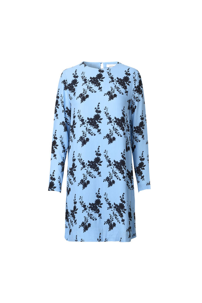 Marice ls dress aop 8083, BLUE BLOOM
