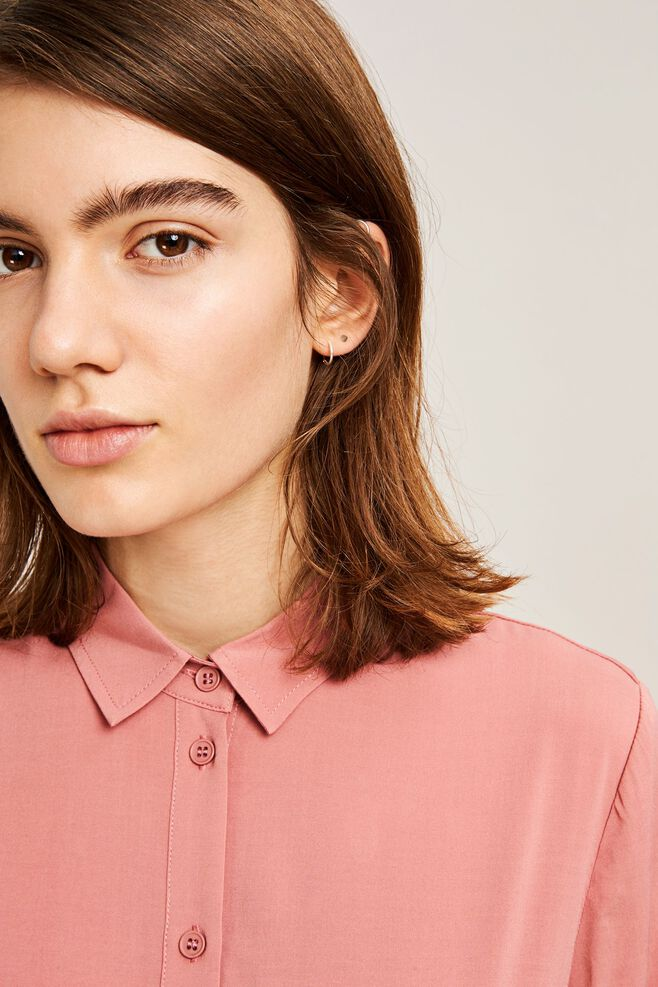 Maj ss shirt 9942, DUSTY ROSE