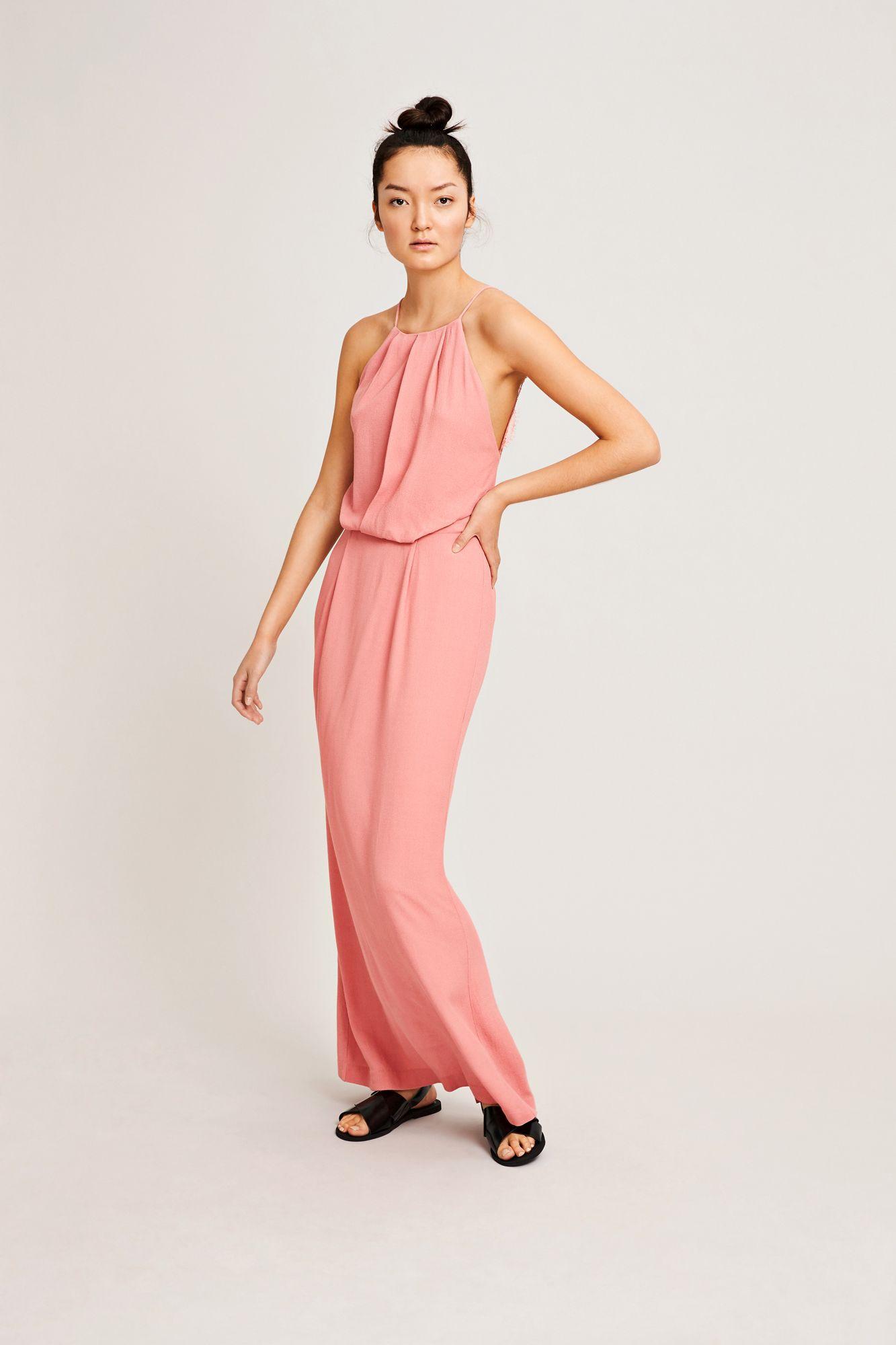 Willow dress long 5687, DUSTY ROSE