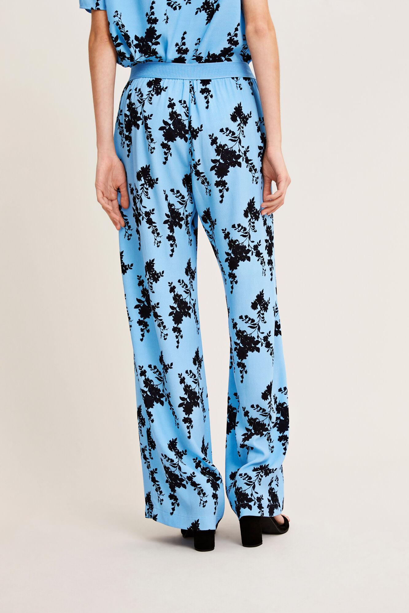 Nessie pants aop 6515, BLUE BLOOM