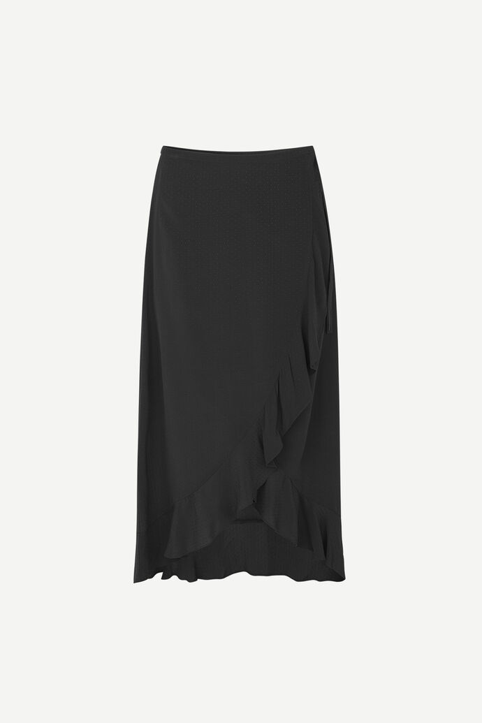 Limon l wrap skirt 10458, BLACK