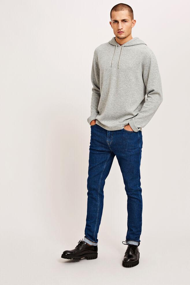 Sang hoodie 9658, GREY MEL.