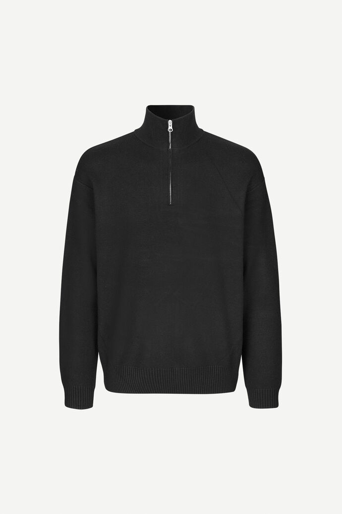 Guna turtle neck zip 10490, BLACK