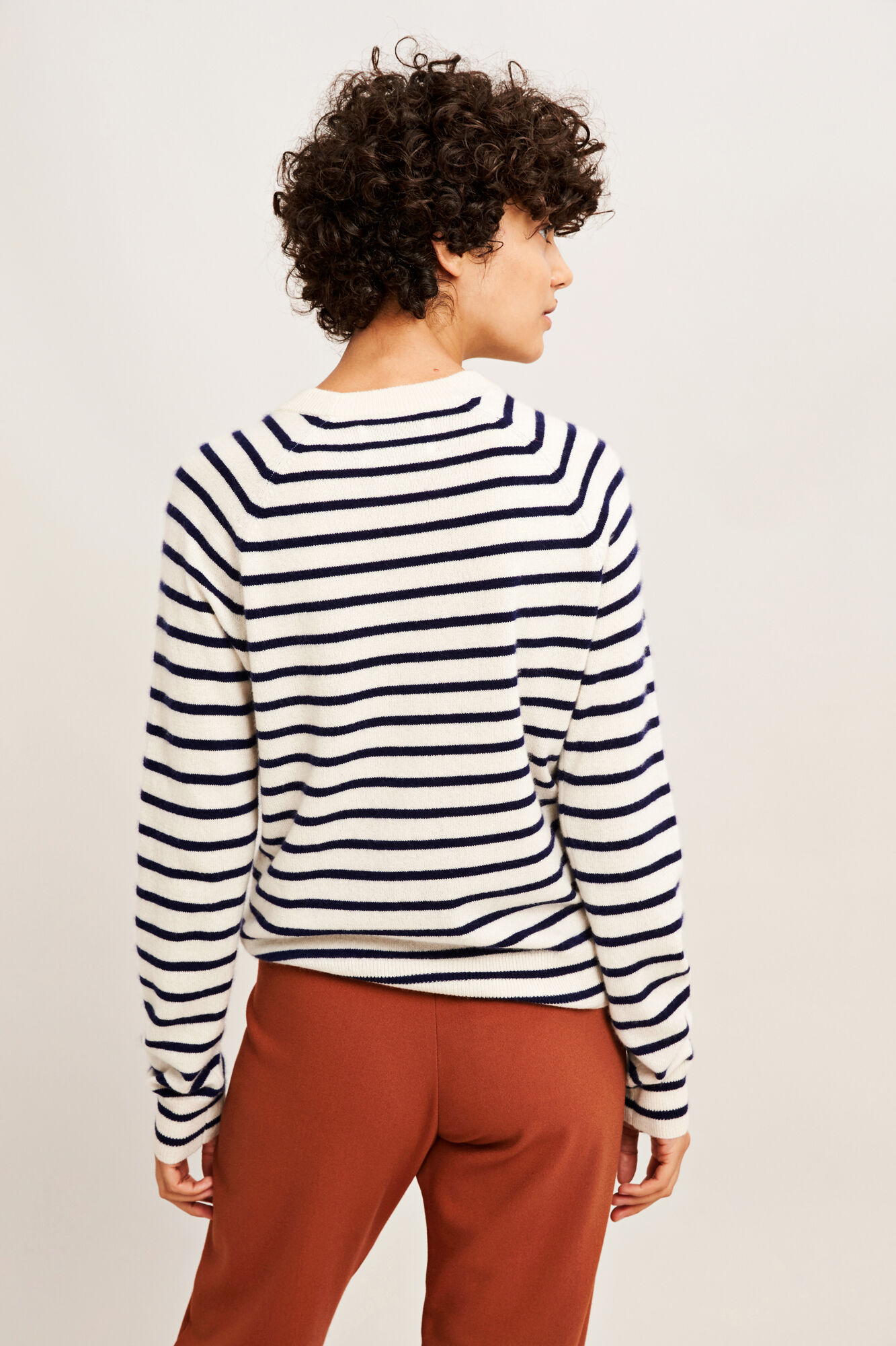 Boston o-neck stripe 6304, BRETON CREAM