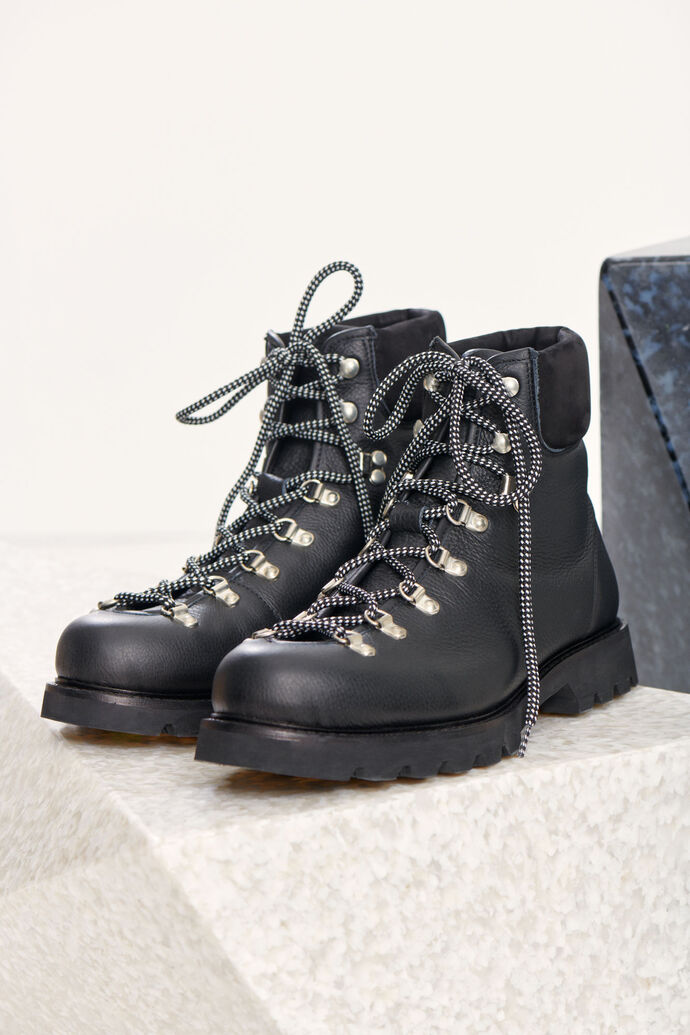 Trekking boots 9638, BLACK