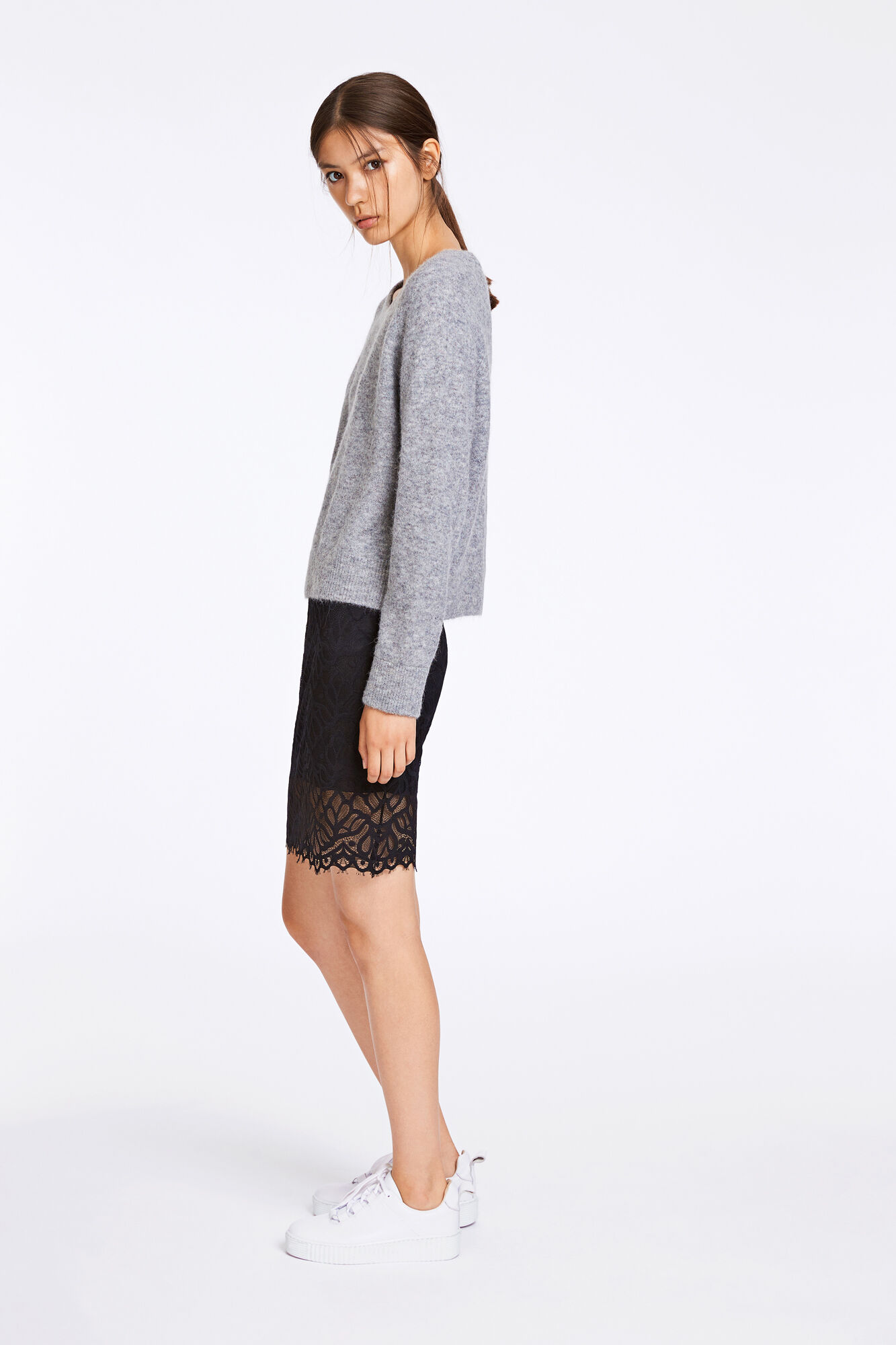 Nor o-n short 7355, GREY MEL.