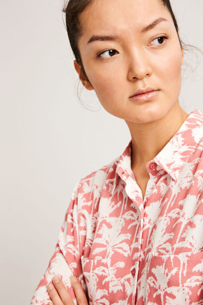 Milly shirt aop 7201, ROSE PALMIER