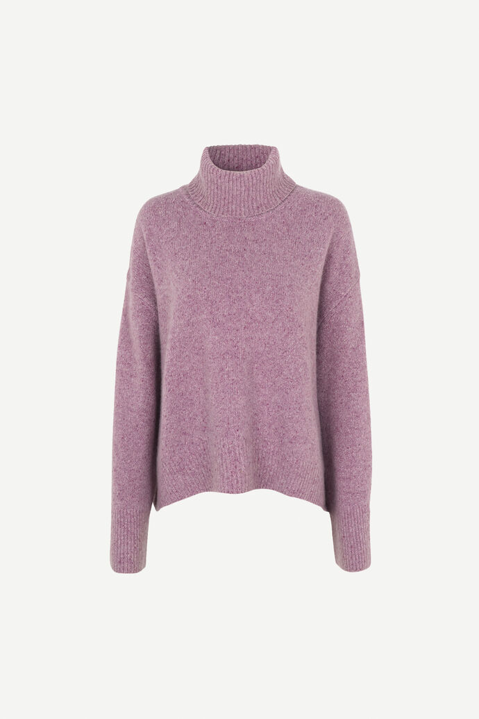 Vicky turtleneck 11214, PURPLE JASPER MEL.