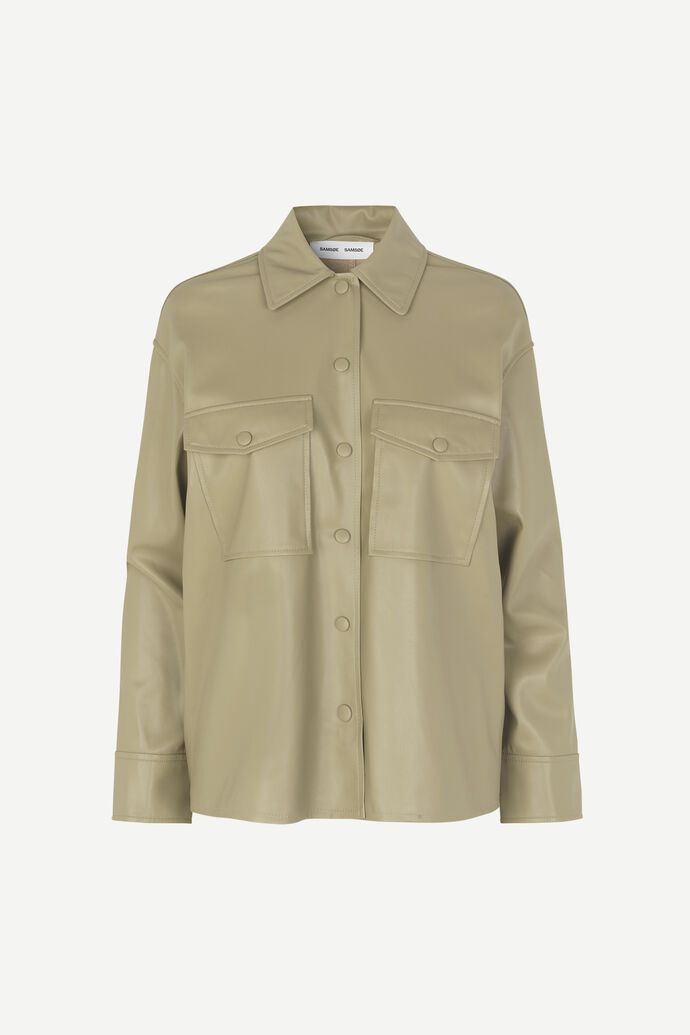 Shereen overshirt 11335, OLIVE GREY