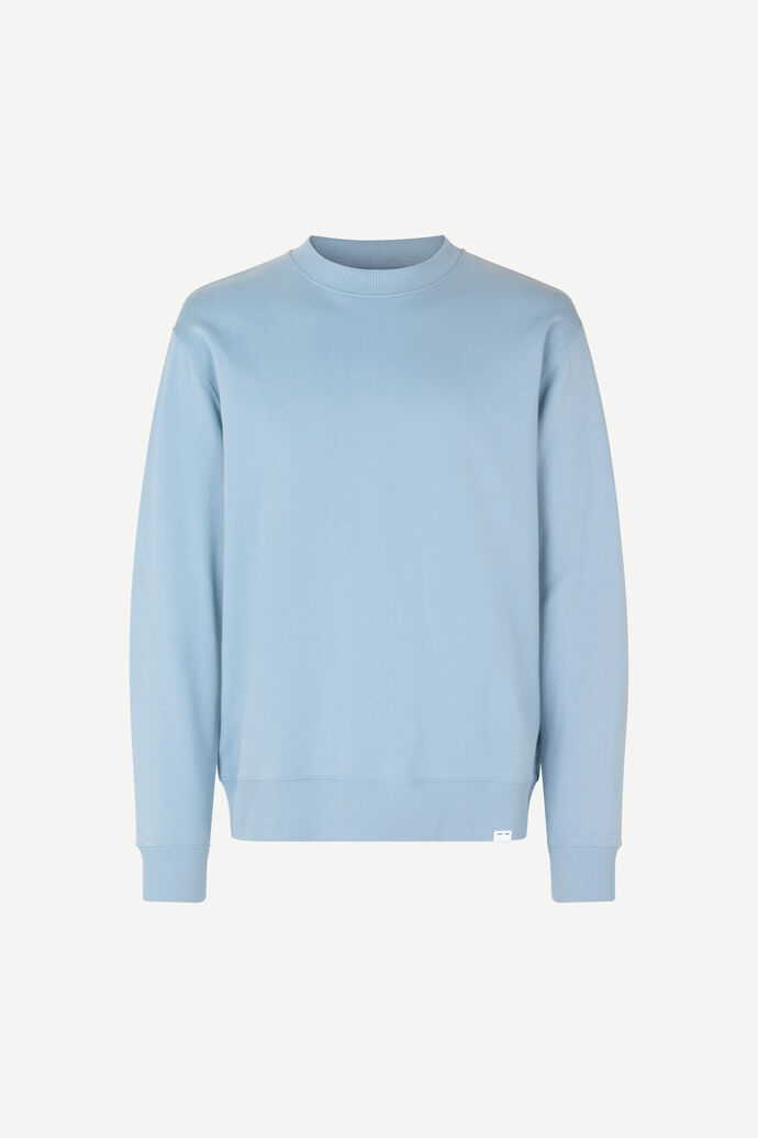 Toscan crew neck 11414, DUSTY BLUE