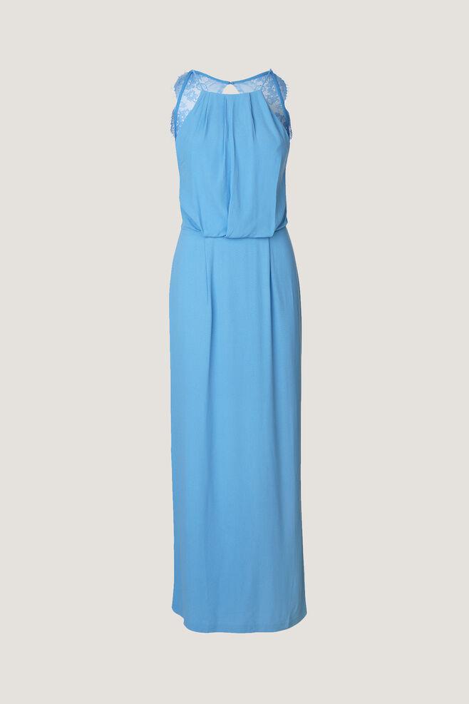 Willow dress long 5687, SILVER LAKE BLUE