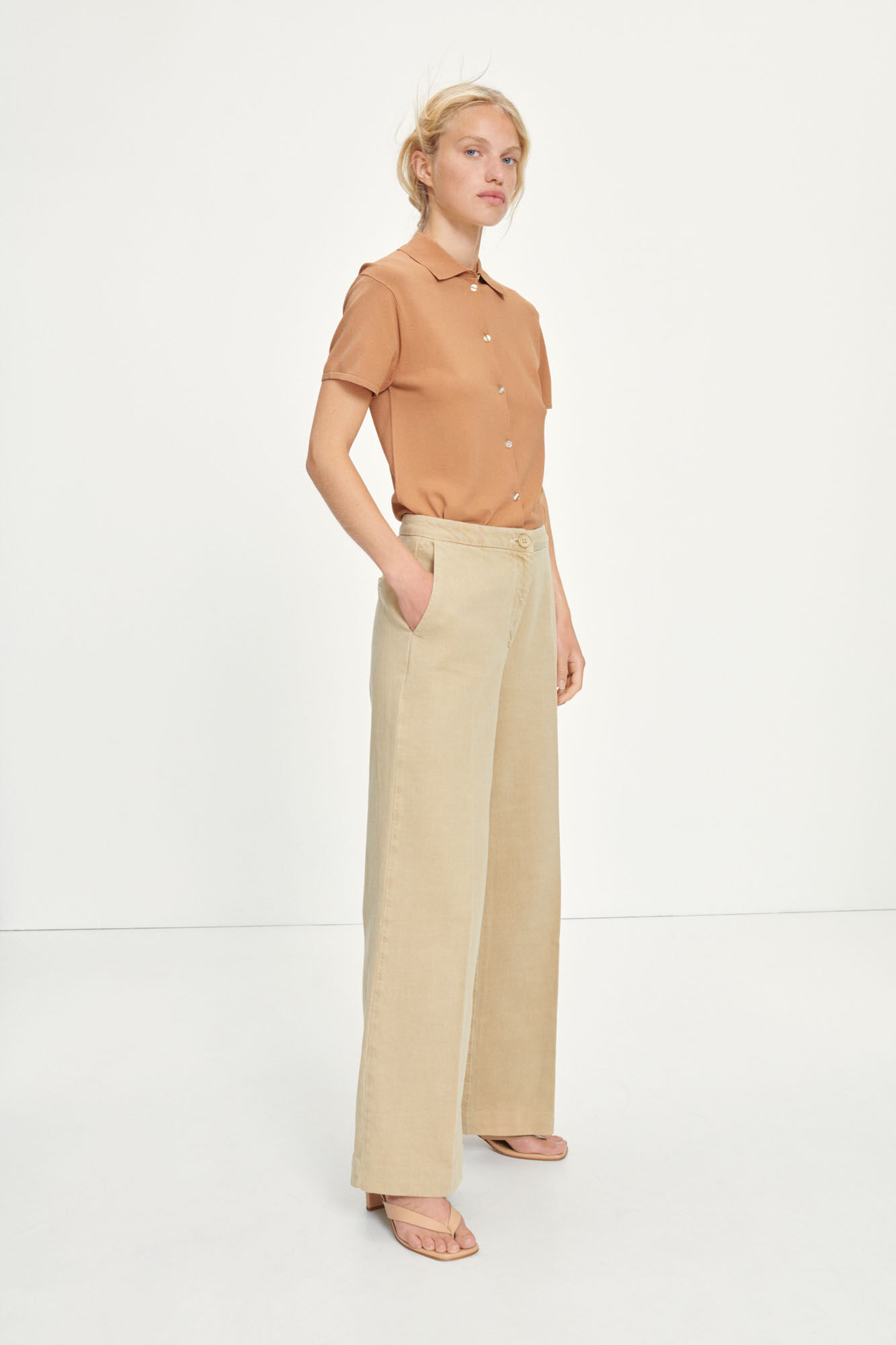 Collot trousers 13143, CAMEL