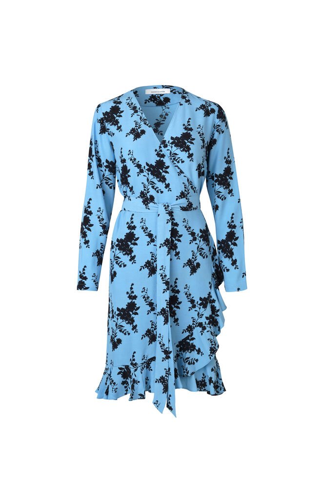 Limon ls dress aop 6515, BLUE BLOOM