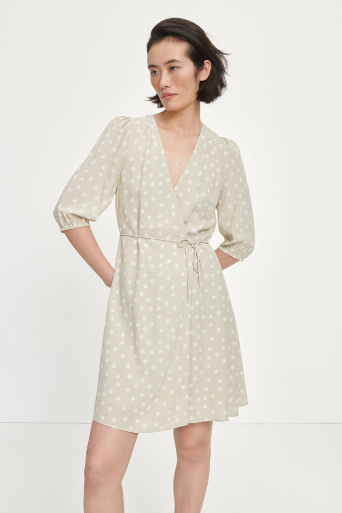 Britt ss wrap dress aop 10864 image number 2