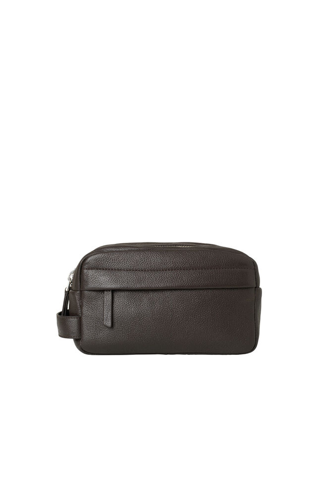 Mule wash bag 3338, DARK BROWN