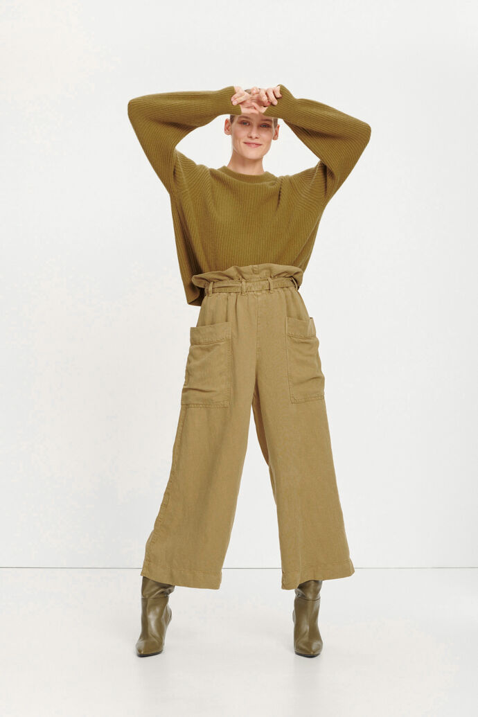 Manz trousers 11484, GREEN KHAKI
