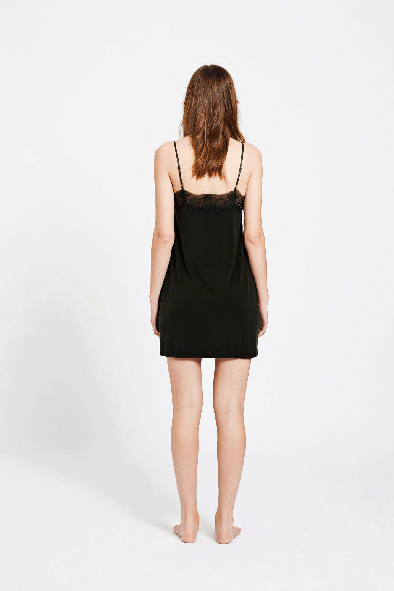 Slip dress 6202, BLACK