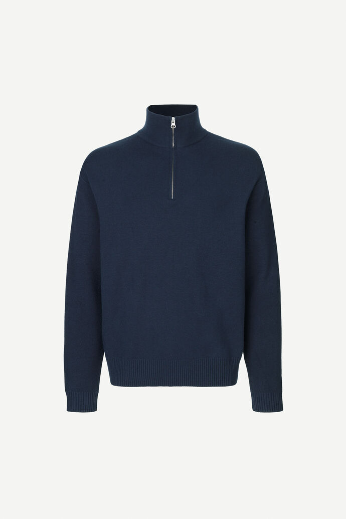 Guna turtle neck zip 10490, SKY CAPTAIN