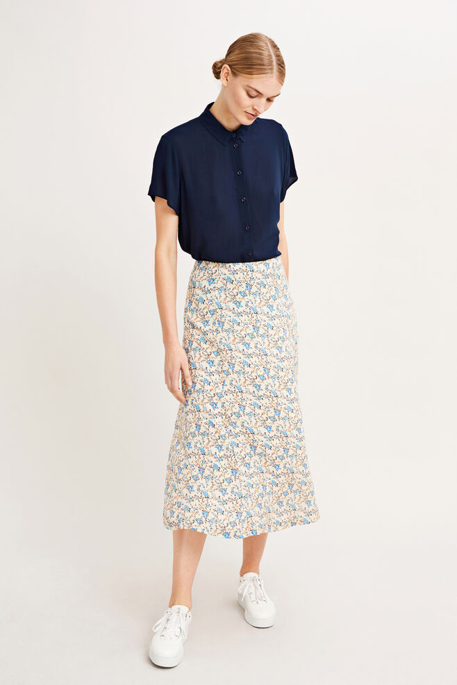 Ryes l skirt aop 6891, BLOSSOM