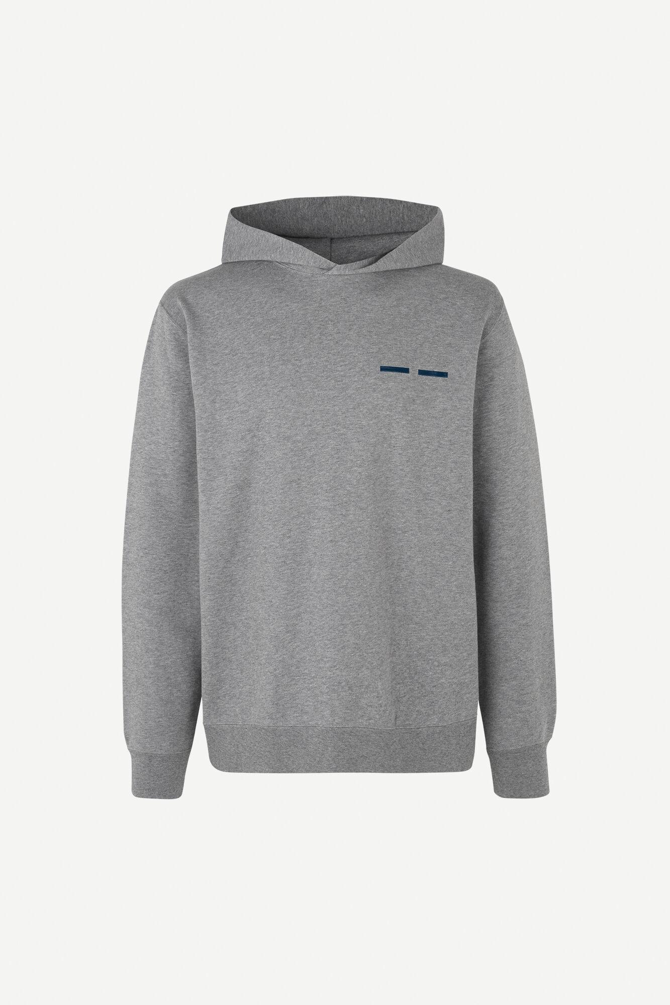 Toscan hoodie 11414, GREY MEL.