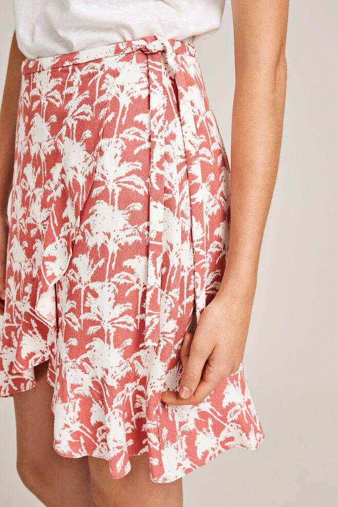 Limon s wrap skirt aop 6515, ROSE PALMIER
