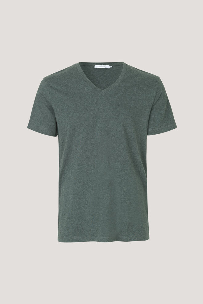Marian male v-neck basic 273, D. SPRUCE MEL