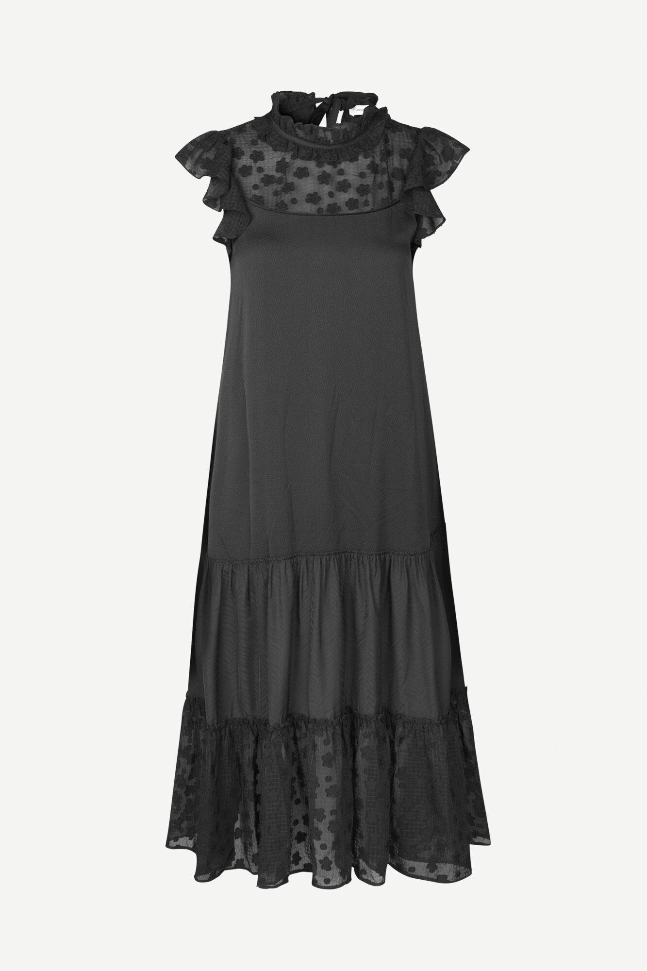 Opala long dress 12775, BLACK