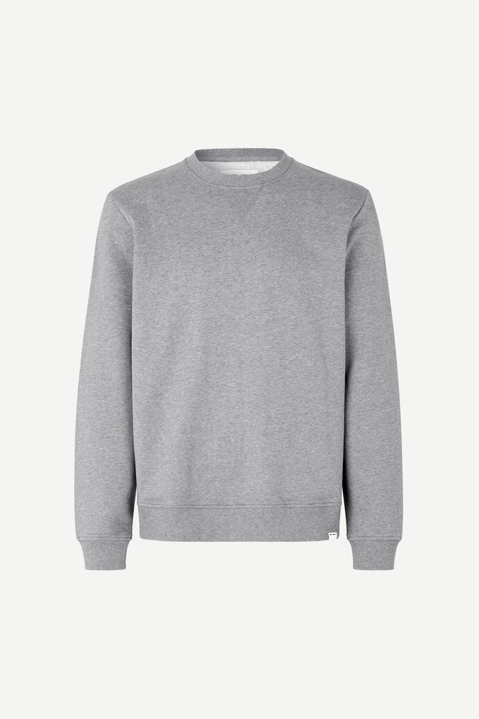 Hugo crew neck 11414, GREY MEL.