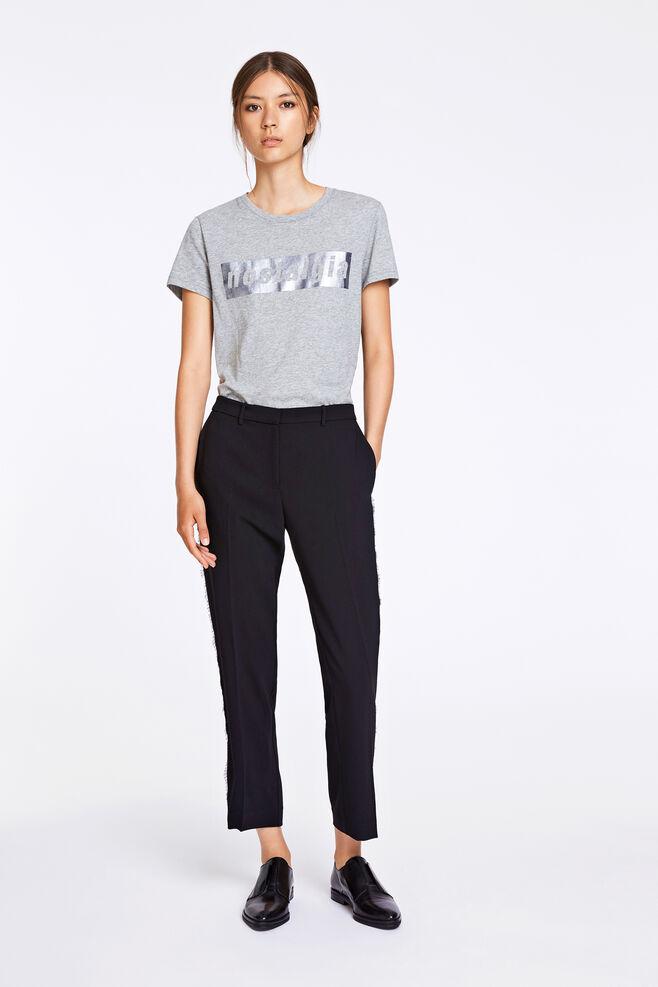Louisa crop pants 8305, BLACK
