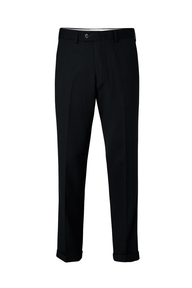 Laurent pants fold up 8197, BLACK