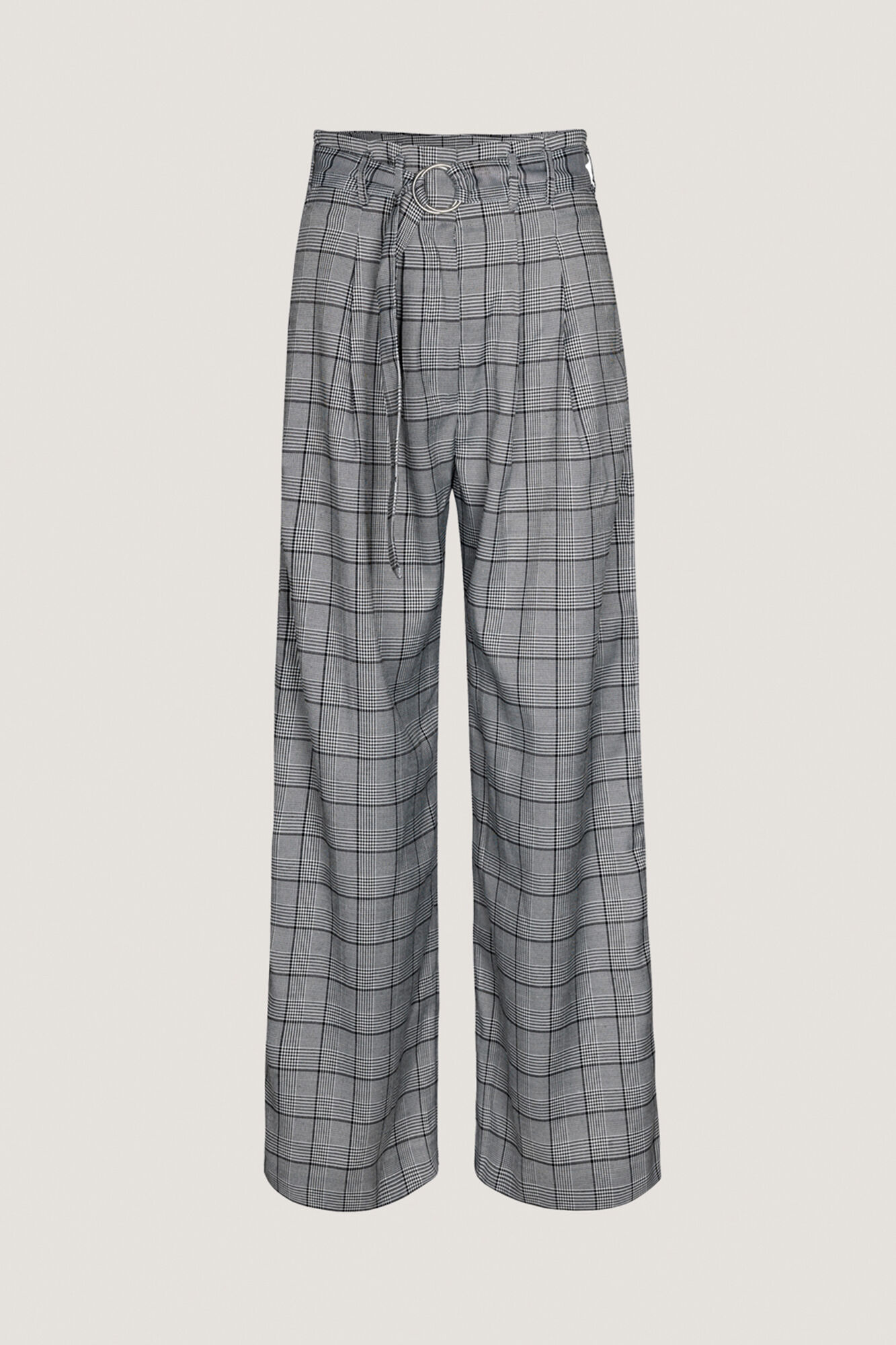 Mella pants 10595, B/W CHECK
