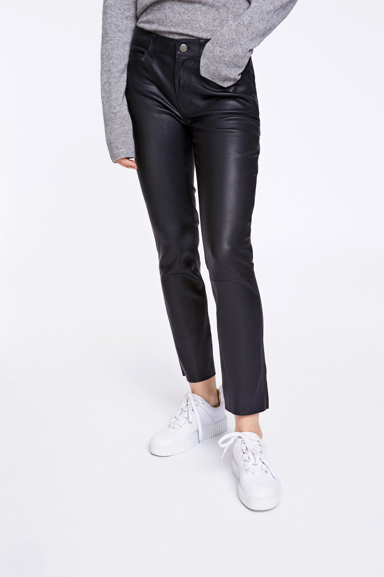Lana pants 2169, BLACK