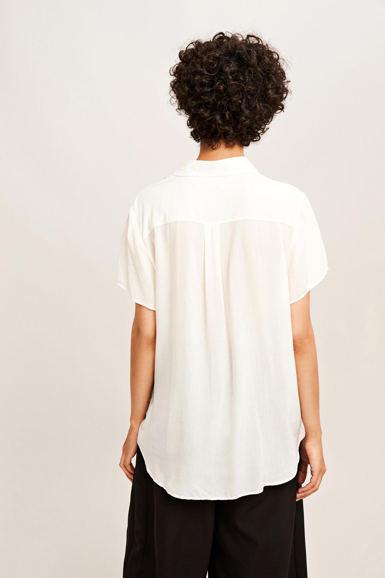 Maj ss shirt 3856, CLEAR CREAM
